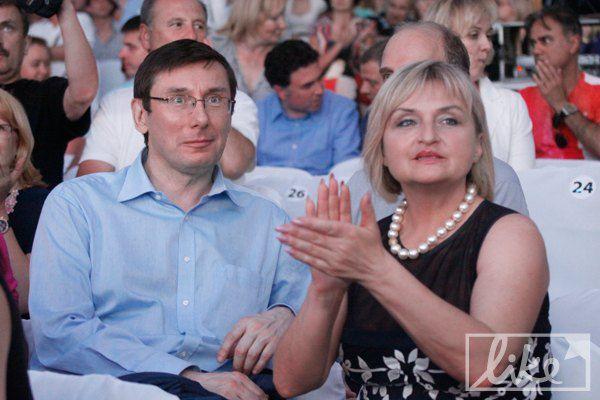 Политик Юрий Луценко с женой Ириной