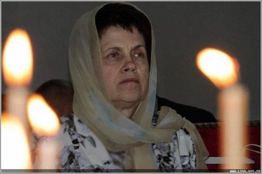 Людмила Янукович в Свято-Владимирском кафедральном соборе