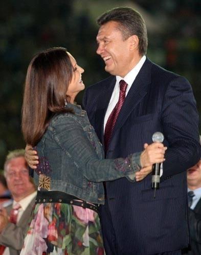 Виктор Янукович и София Ротару