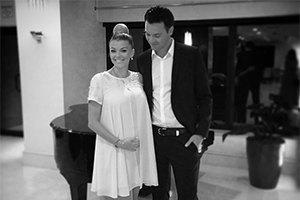Ириша Блохина впервые вышла в свет с мужем