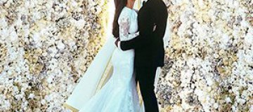 Ким Кардашьян обнародовала фотографии со свадьбы