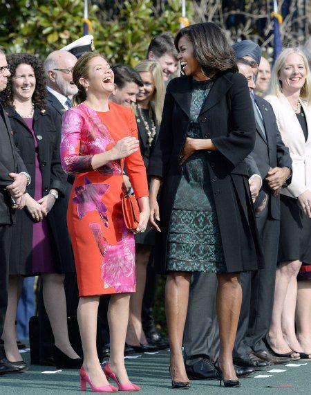 Первые леди Канады и США - Софи Грегуар-Трюдо и Мишель Обама