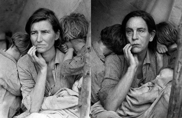 Джон Малкович в образе Доротеи Ланж