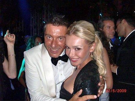 Яна и модельер Стефано Габбана