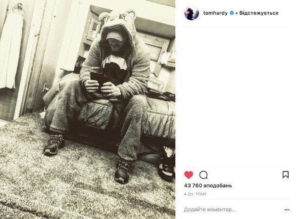 """""""Некогда объяснять"""" - свои фото Том Харди не подписывает"""