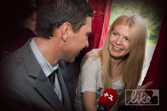 Виталий Седюк берет интервью у коллег