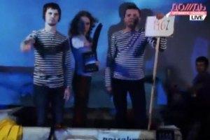 Собчак и Парфенов прочитали рэп