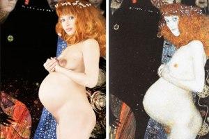Эвелина Бледанс снялась голой за два дня до родов