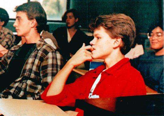 Мэтт Дэймон (Matt Damon), Cambridge Ringe and Latin, Кембридж, Массачусетс, 1988 год