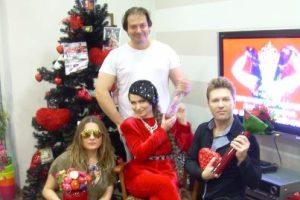 Могилевская подарила Лузиной новогоднюю елку на день рождения