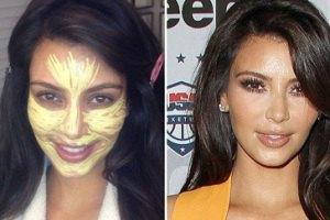 Ким Кардашьян сделала желтое лицо