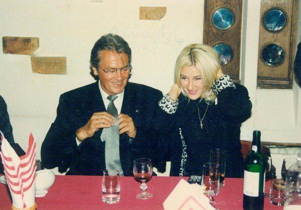 Маргарита Сичкарь с Ален Делоном