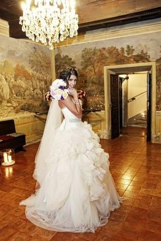Санта Димопулос в первый день свадьбы
