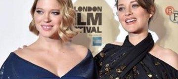 Леа Сейду и Марион Котийяр показали подросшие животы на премьере фильма