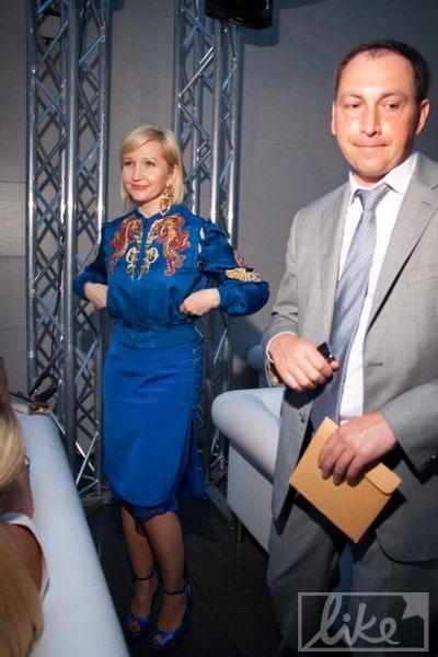 Елена Пинчук пришла на мероприятие с телохранителем