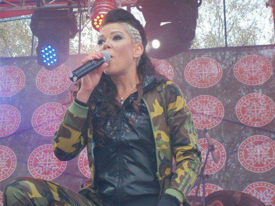 Руслана на концерте в Карпатах