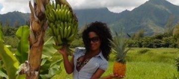 Гайтана проводит праздники на Гавайях