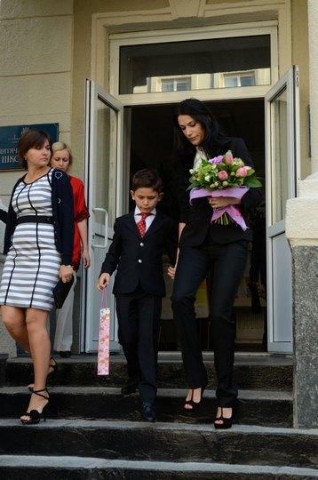 Виктория Джарты с сыном Василием