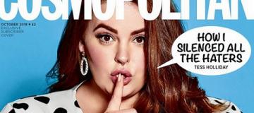 150-килограммовая модель украсила обложку Cosmopolitan