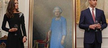 Принц Уилльям и Кэйт Миддлтон представили портрет Елизаветы II