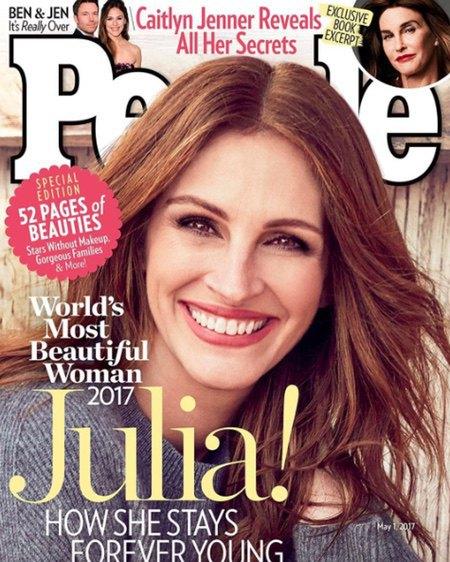 """""""Самая красивая"""" Джулия Робертс на обложке People"""