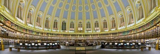 В 1997 году библиотека переехала в новое здание в Сент-Панкрас, Лондон, однако читальный зал остался там же, в Британском музее