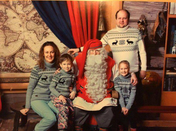 Виктор Бронюк с женой Татьяной и детьми
