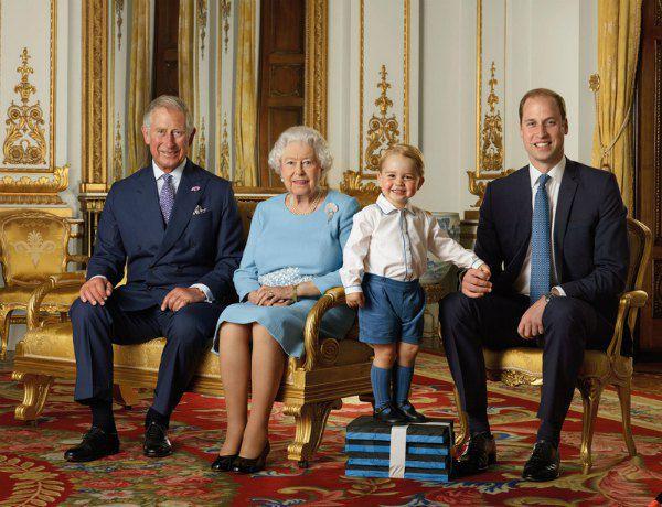 Монаршая идиллия: принц Чарльз, королева, принц Джорд и принц Уильям