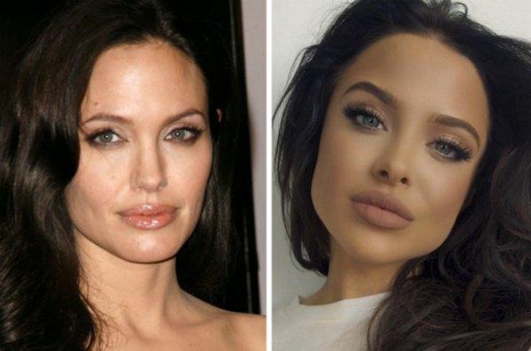 Почувствуйте разницу: Анджелина Джоли и Мара Тейген