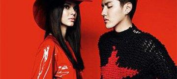 """Сестра Ким Кардашьян снялась в латексе для китайского """"Vogue"""""""