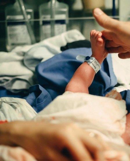 Новорожденный сын Водяновой вскоре после родов