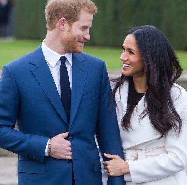 Первое официальное совместное фото принца Гарри и Меган Маркл