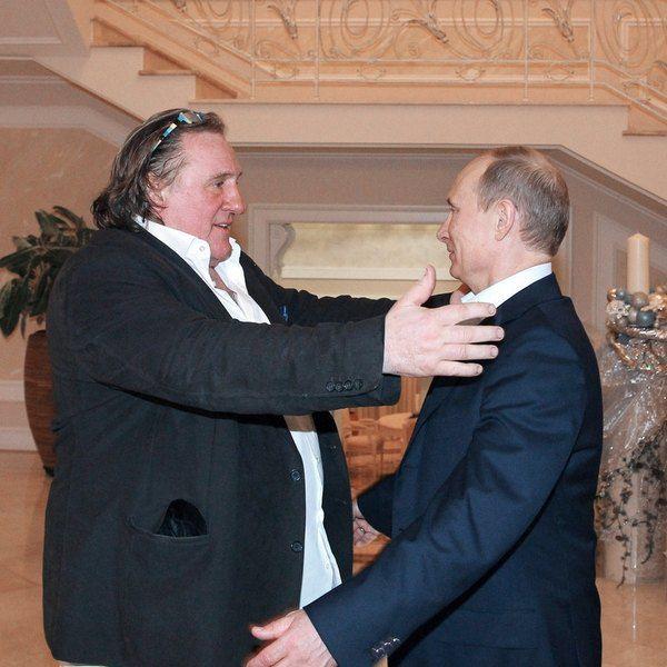 Актер Жерар Депрардье и президент России Владимир Путин