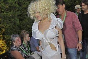 Варум вышла в свет в прозрачном платье