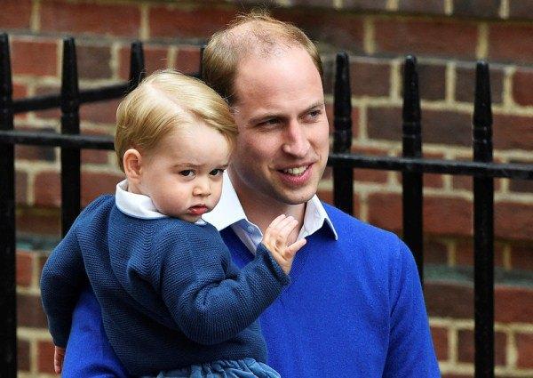 Принц Уильям с Георгом