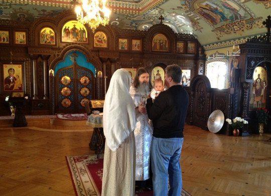 Нагорный обнародовал фото с таинства крещения