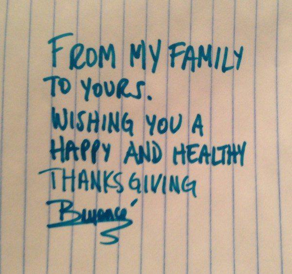 Снимки были опубликованы ко Дню благодарения