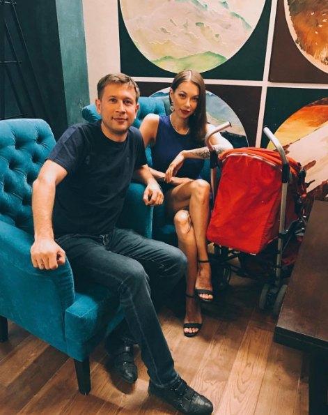 Дмитрий Ступка с женой Полиной