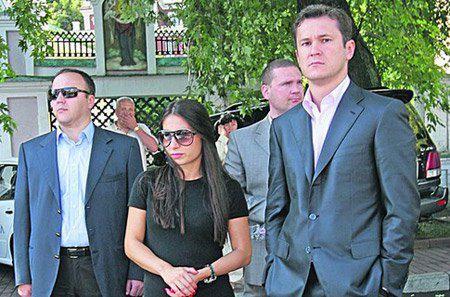 Черновецкая с бывшим мужем