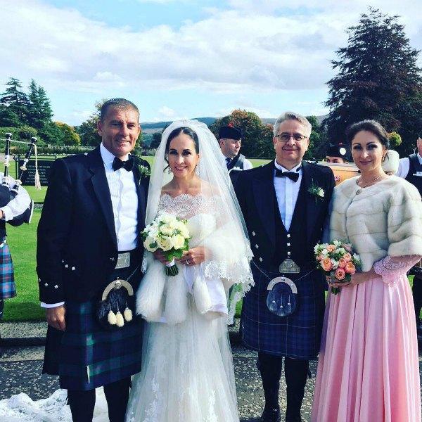 Оксана Калетник с супругом-шотландцем