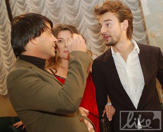 Валид Арфуш (слева), и супруги Бадоевы