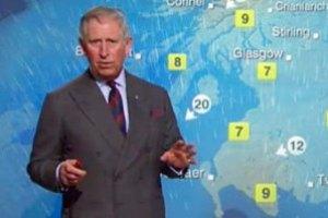 Принц Чарльз провел телепрогноз погоды