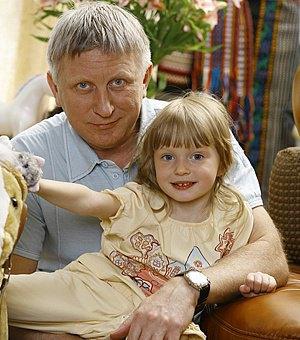 Владимир Горячкин с дочерью Машей