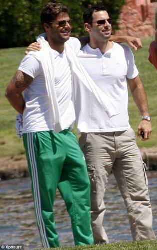 Рики Мартин и его бойфренд Карлос