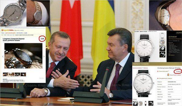 Виктор Янукович на встрече с Тайимпом Эрдоганом