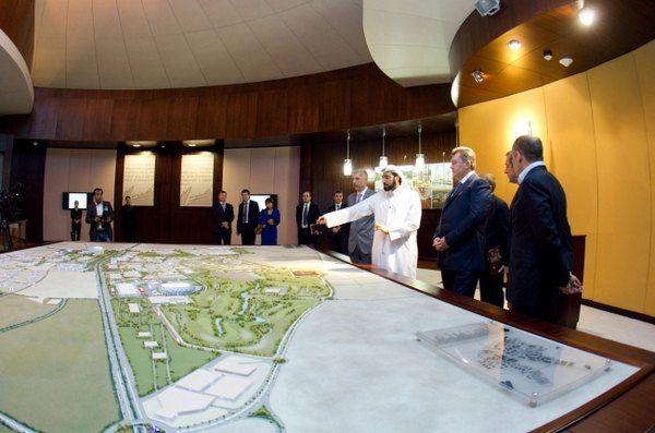 Президенту Украины продемонстрировали макет парка