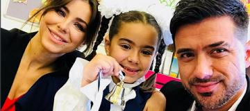Ани Лорак и Мурат вместе отвели дочь в первый класс