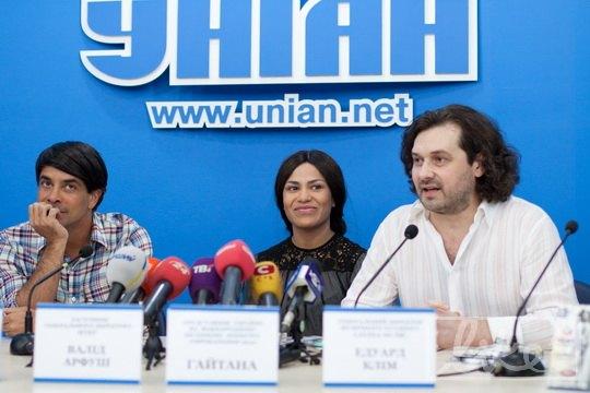 Заместитель генерального директора НТКУ Валид Арфуш, певица Гайтана и продюсер Эдуард Клим
