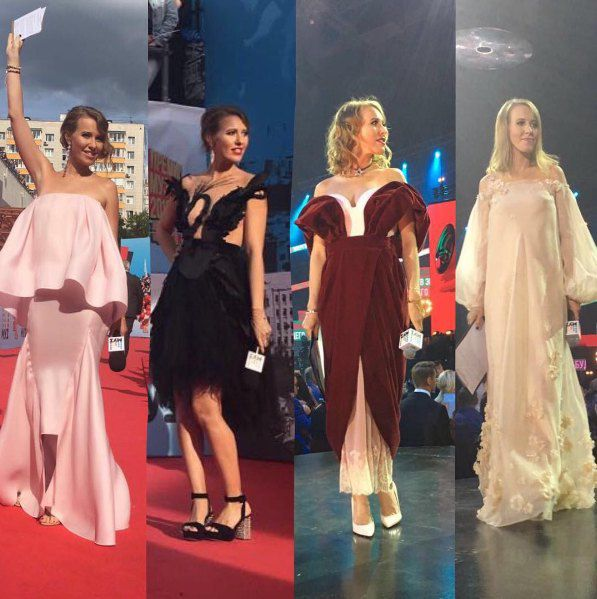 Ксения Собчак в роли ведущей премии МузТВ