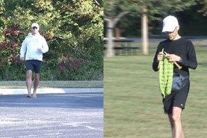 Американец связал шарф во время забега на марафонскую дистанцию